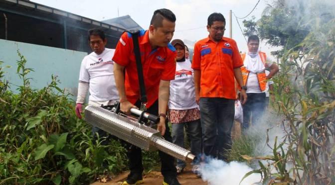 Rescue Perindo Bantu Warga Atasi Wabah DBD
