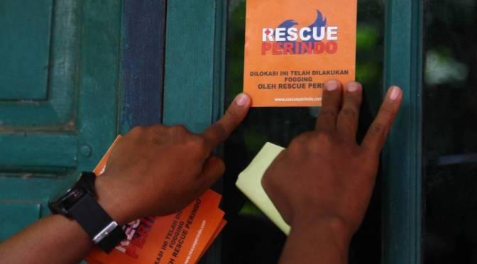 Cegah demam berdarah, tim Rescue Perindo Semarang Bali adakan fogging