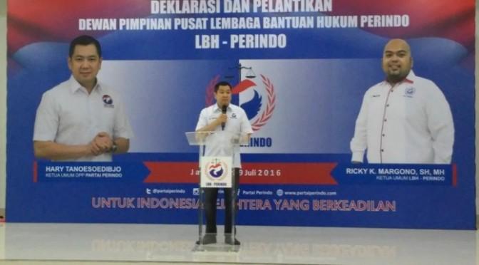 Hary Tanoe Deklarasikan LBH Perindo