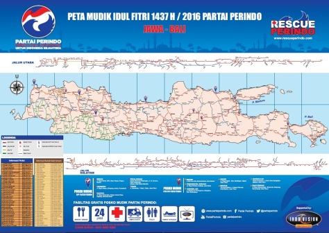 Peta Mudik Idul Fitri 1437 H 2016 Partai Perindo