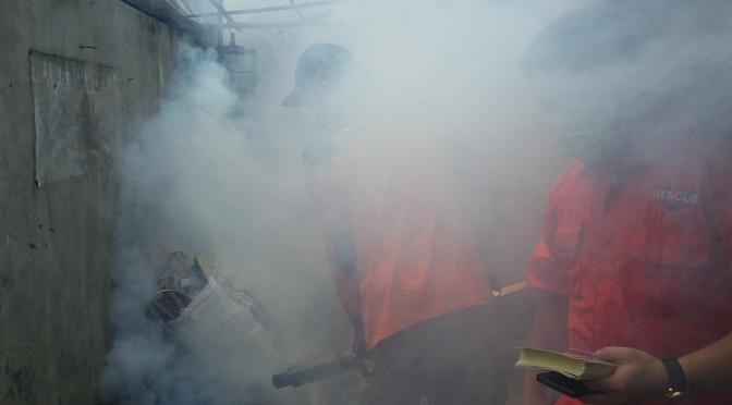 Gelar Fogging di Serdang, Rescue Perindo Sasar Pemukiman Padat