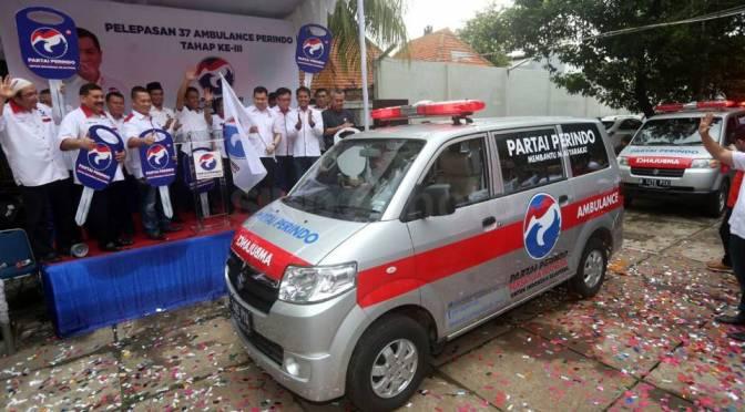 Hary Tanoe Lepas 37 Ambulance Partai Perindo Tahap Ke-III