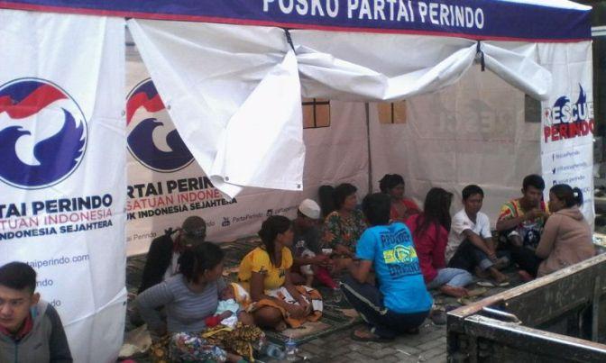Dirikan Posko di Garut, Rescue Perindo Kerahkan Ratusan Relawan