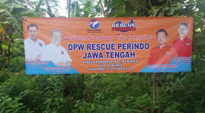"""Cegah Demam Berdarah di Kebumen, Perindo """"Semprot"""" Sarang Nyamuk"""