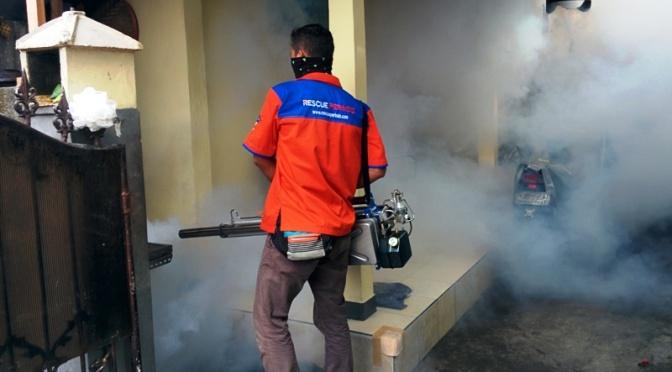 Cegah Wabah Demam Berdarah, Rescue Perindo Fogging di Denpasar