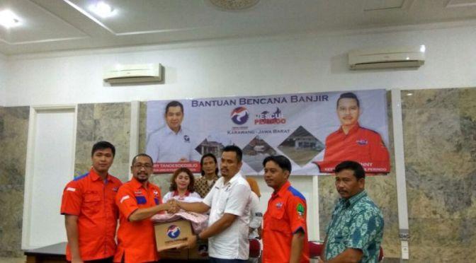 Selain Beri Bantuan, Rescue Perindo Siap Lakukan Fogging Pasca Banjir Karawang