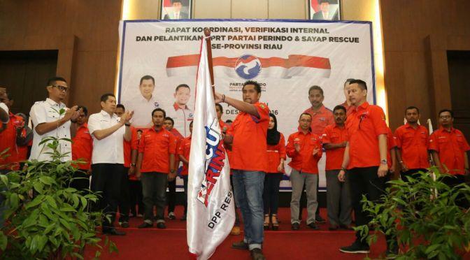 Usai Dilantik, Ketua Rescue Perindo Minta DPW Turun ke Masyarakat