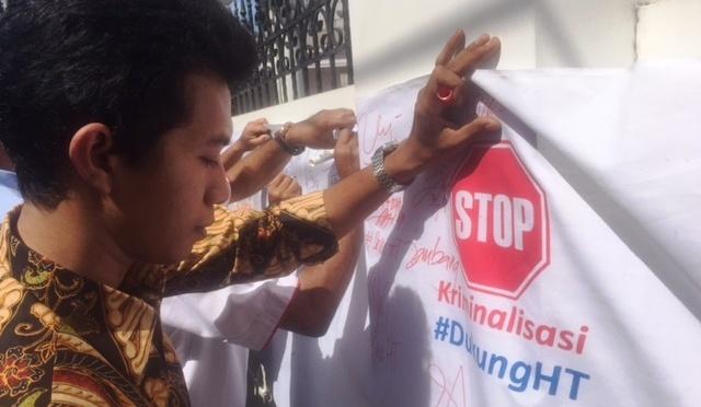 DPW Perindo Jatim Gelar Aksi Tanda Tangan #dukungHT