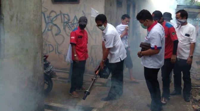 Cegah DBD, Rescue Perindo Fogging Rumah Susun di Palembang