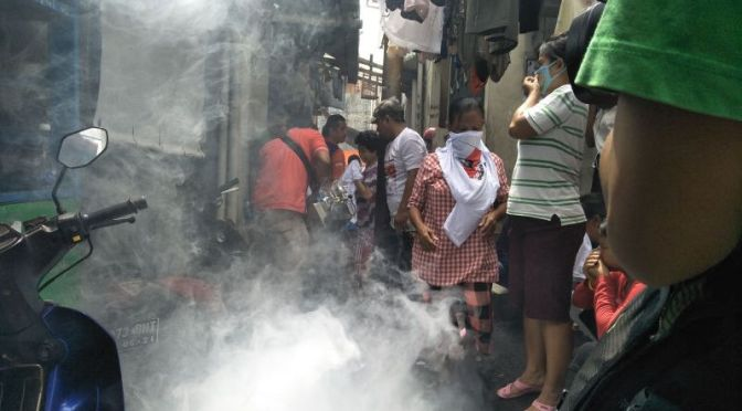 Dapat Fogging Gratis, Warga Taman Sari: Terima Kasih Rescue Perindo Telah Peduli